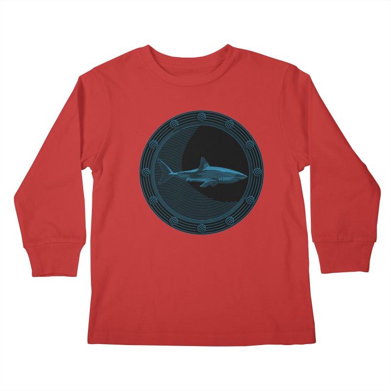 Portal Shark Kids Longsleeve T-Shirt by TCarver T-shirt Designs