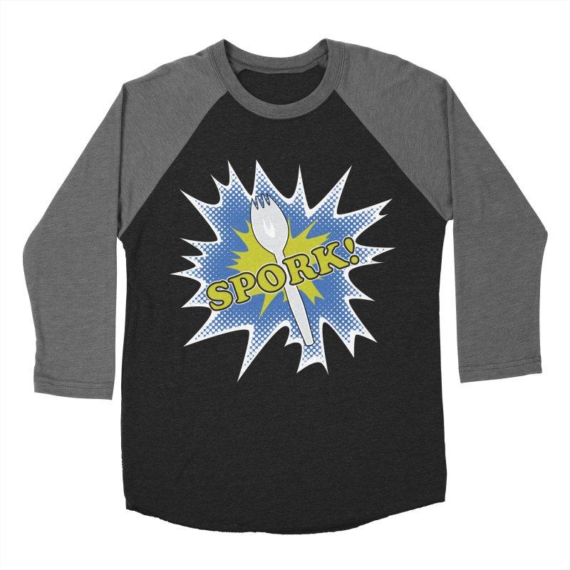 Spork! Men's Baseball Triblend T-Shirt by TCarver T-shirt Designs