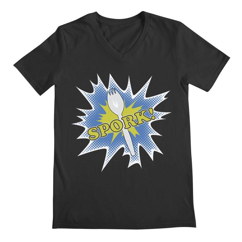 Spork! Men's V-Neck by TCarver T-shirt Designs