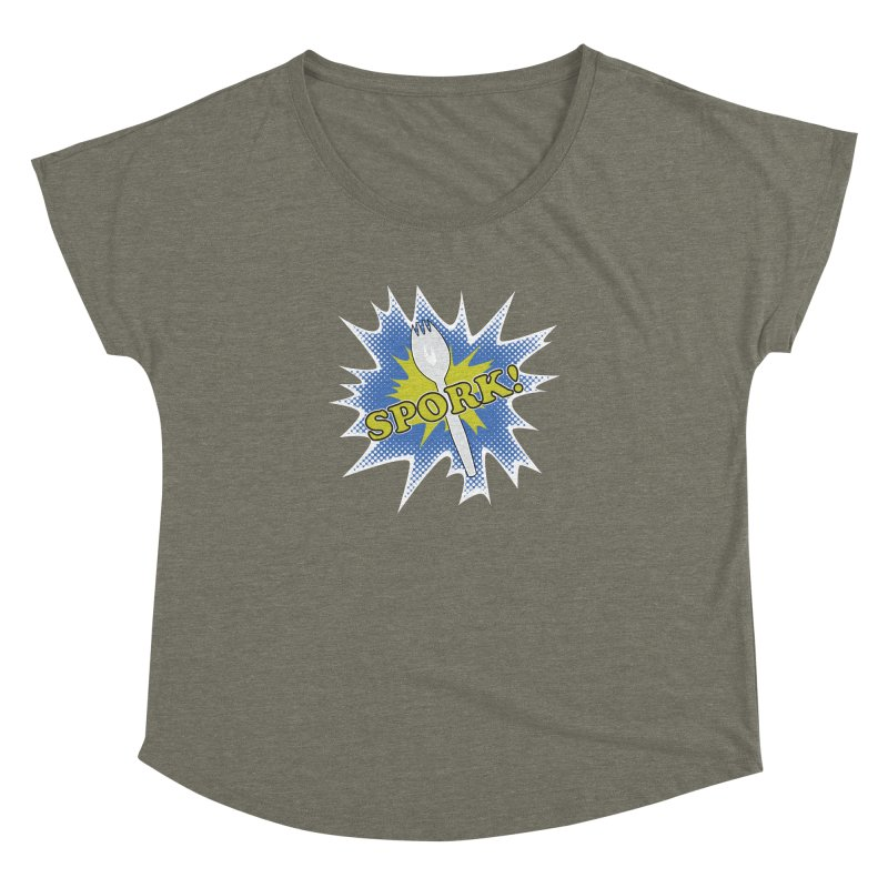 Spork! Women's Dolman by TCarver T-shirt Designs