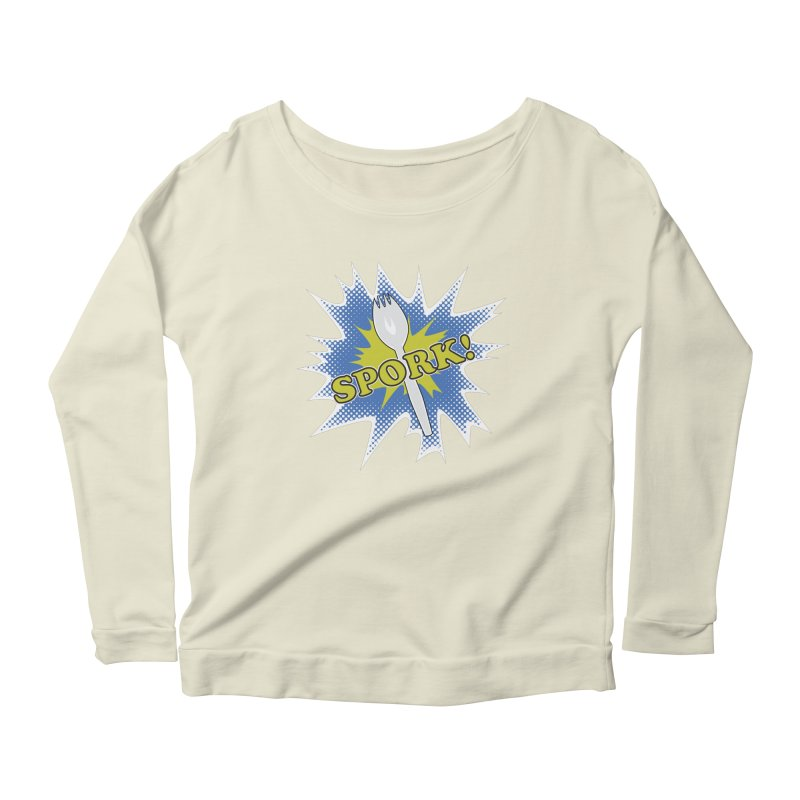 Spork! Women's Longsleeve Scoopneck  by TCarver T-shirt Designs
