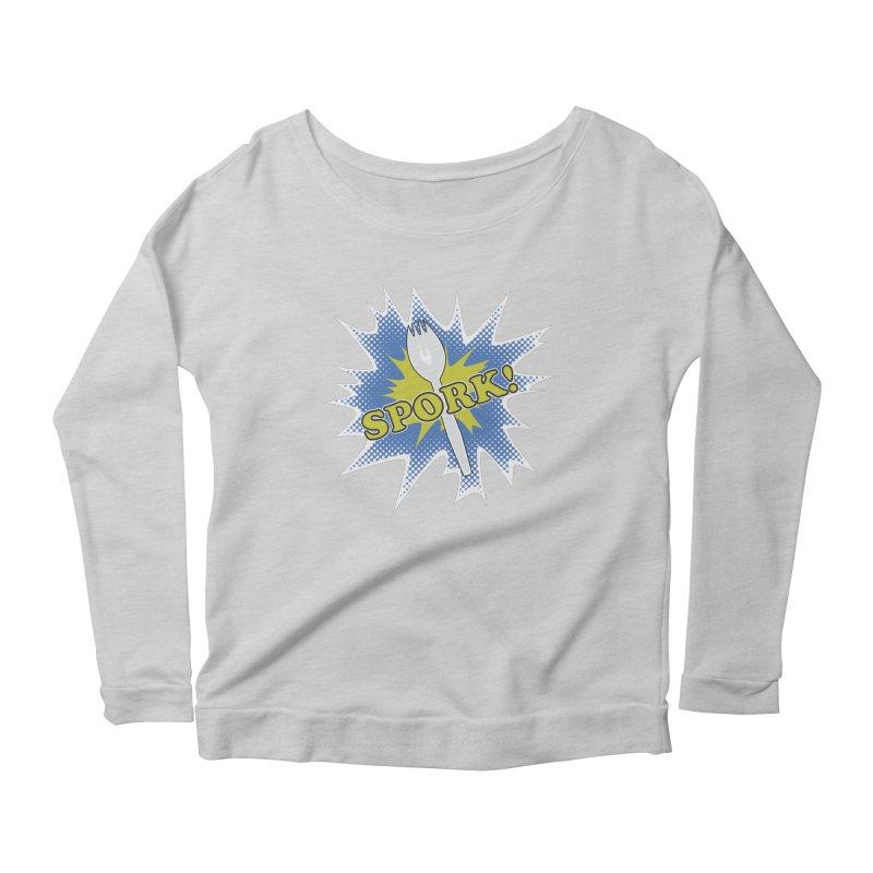 Spork! Women's Longsleeve Scoopneck  by TCarver T-shirt Designs