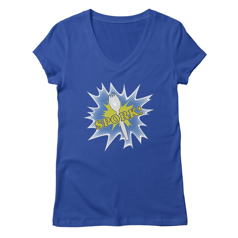 Spork! Women's V-Neck by TCarver T-shirt Designs
