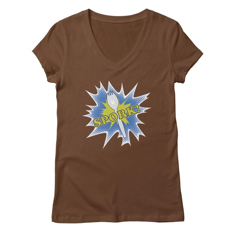 Spork! Women's V-Neck by TCarver T-shirt Designs