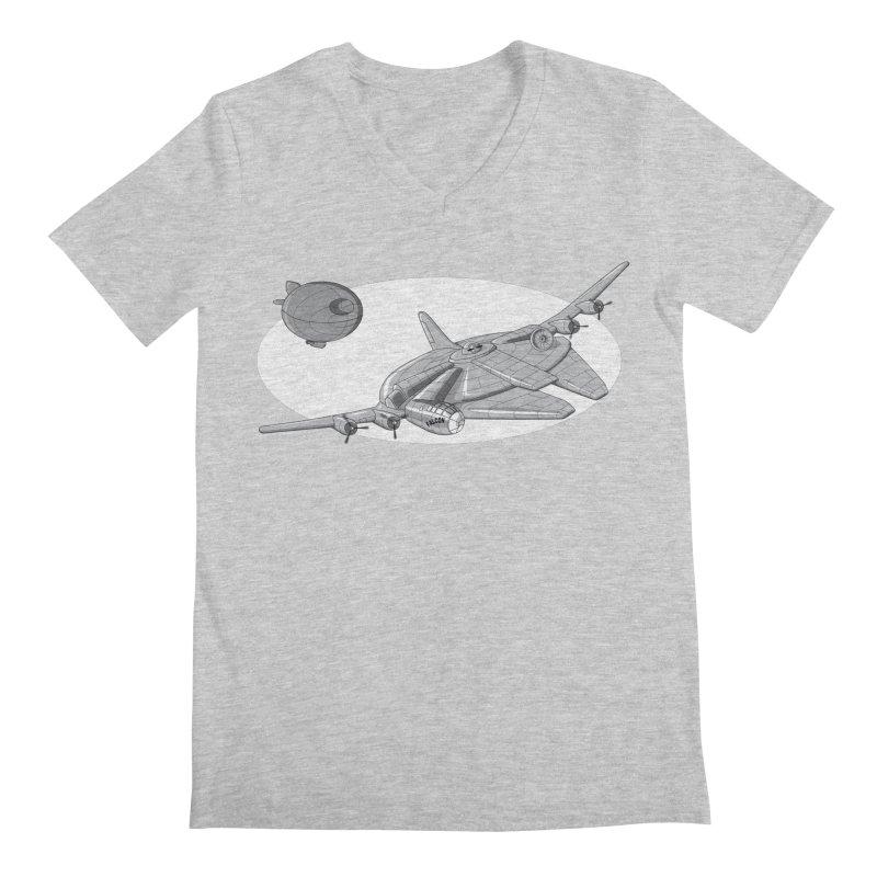 Centenium Falcon Men's V-Neck by TCarver T-shirt Designs