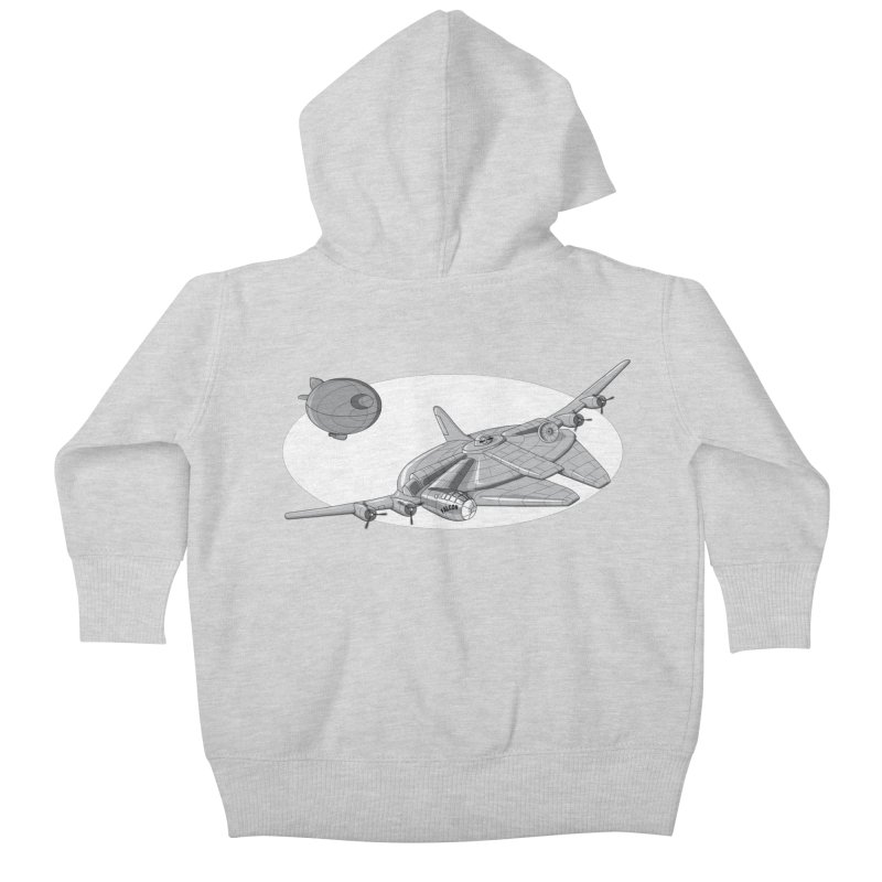 Centenium Falcon Kids Baby Zip-Up Hoody by TCarver T-shirt Designs