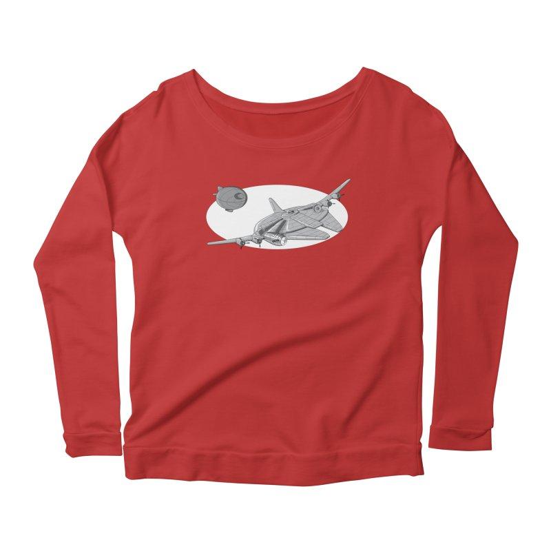 Centenium Falcon Women's Longsleeve Scoopneck  by TCarver T-shirt Designs