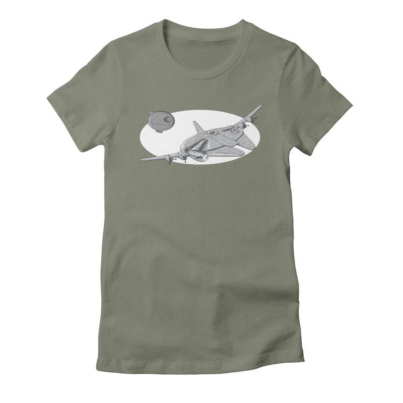 Centenium Falcon Women's Fitted T-Shirt by TCarver T-shirt Designs