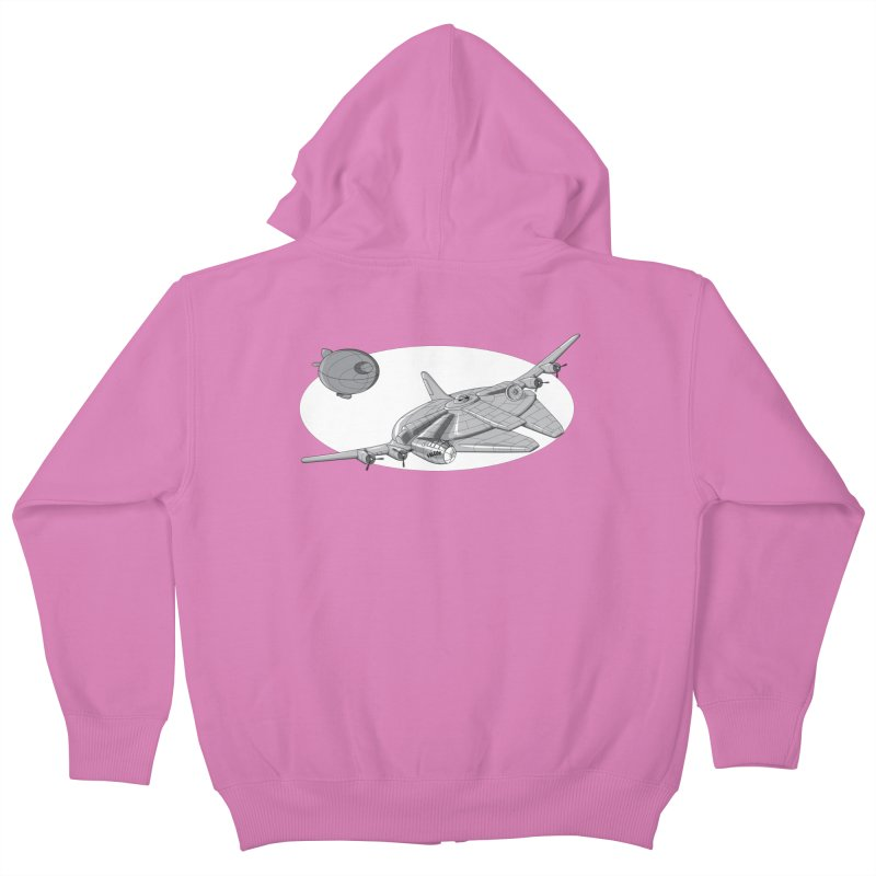 Centenium Falcon Kids Zip-Up Hoody by TCarver T-shirt Designs