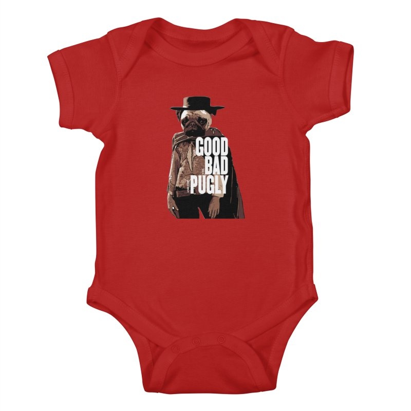 The Good, The Bad, and The Pugly Kids Baby Bodysuit by TCarver T-shirt Designs