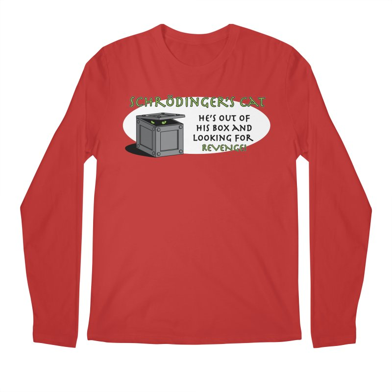 Schrodinger's Cat Men's Longsleeve T-Shirt by TCarver T-shirt Designs
