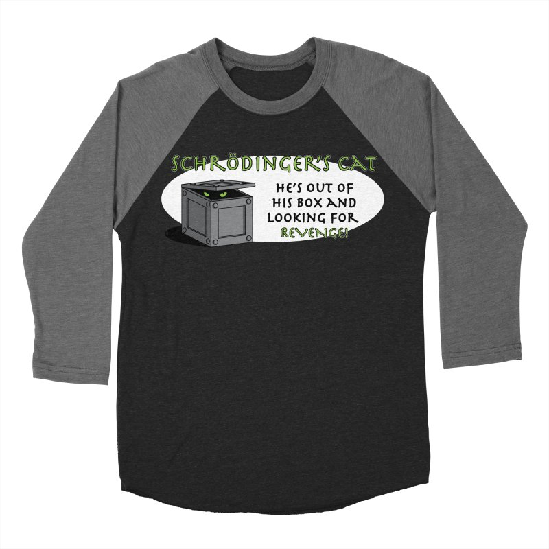 Schrodinger's Cat Men's Baseball Triblend T-Shirt by TCarver T-shirt Designs