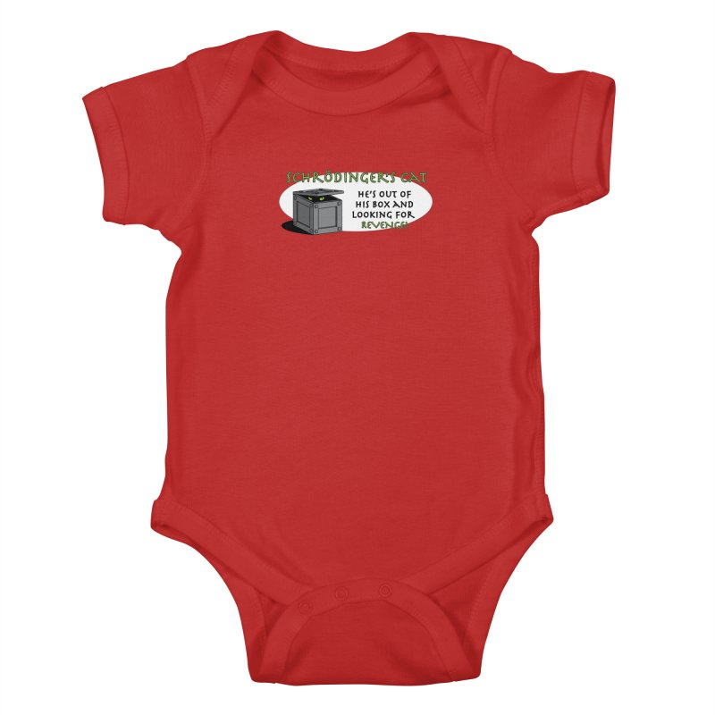 Schrodinger's Cat Kids Baby Bodysuit by TCarver T-shirt Designs