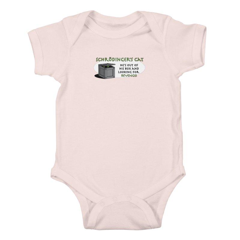 Schrodinger's Cat Kids Baby Bodysuit by TCarver T-shirt Designs