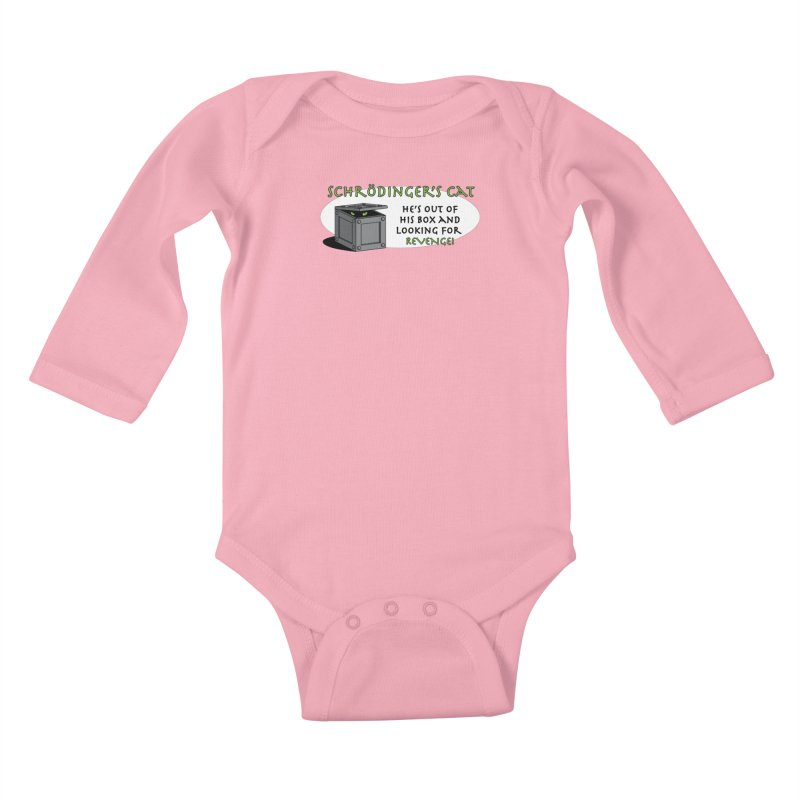 Schrodinger's Cat Kids Baby Longsleeve Bodysuit by TCarver T-shirt Designs