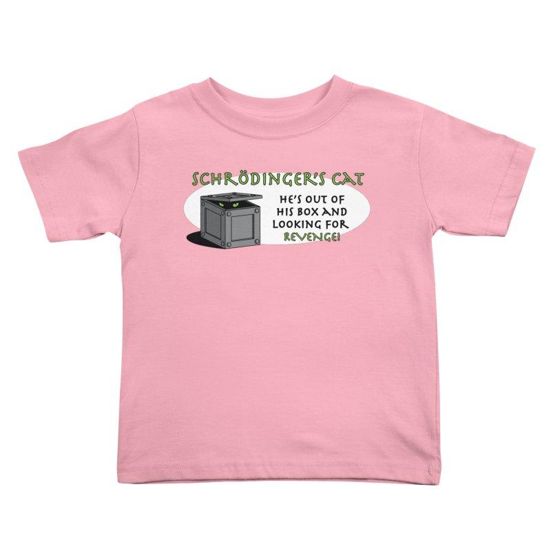 Schrodinger's Cat Kids Toddler T-Shirt by TCarver T-shirt Designs