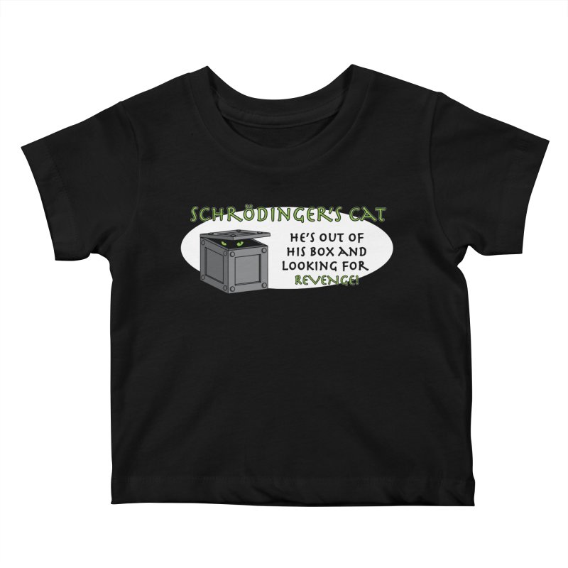 Schrodinger's Cat Kids Baby T-Shirt by TCarver T-shirt Designs