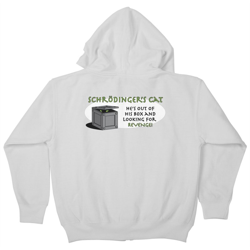 Schrodinger's Cat Kids Zip-Up Hoody by TCarver T-shirt Designs