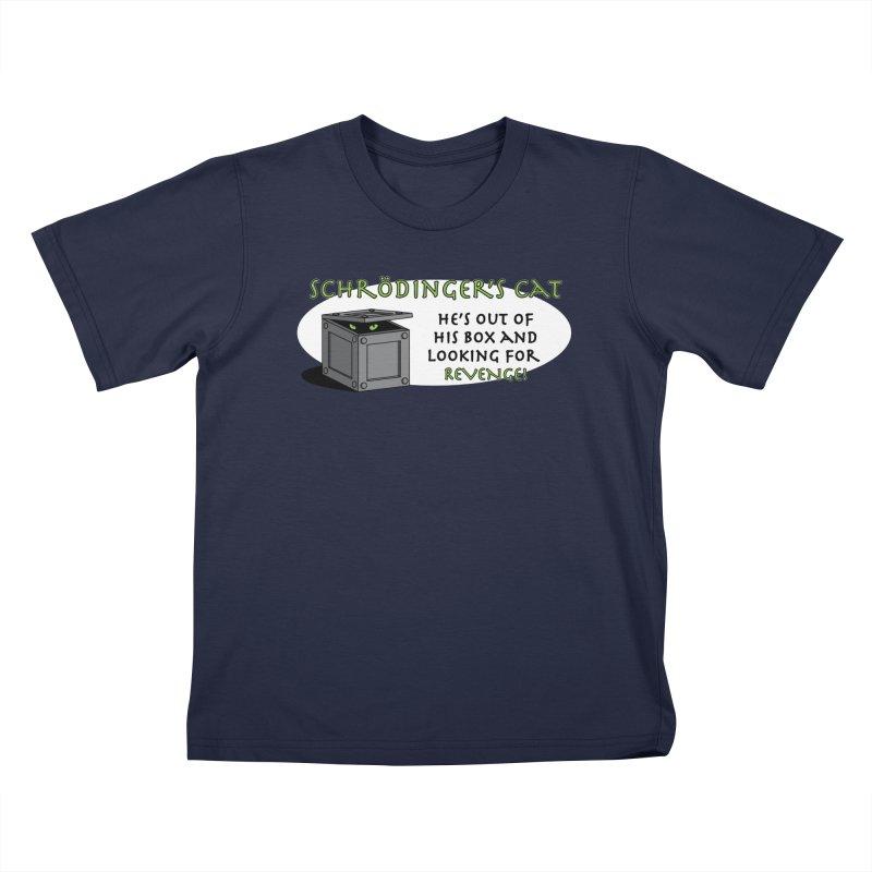 Schrodinger's Cat Kids T-Shirt by TCarver T-shirt Designs
