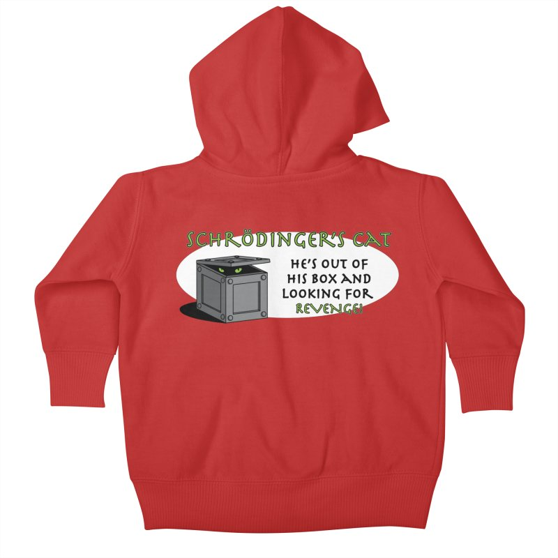 Schrodinger's Cat Kids Baby Zip-Up Hoody by TCarver T-shirt Designs