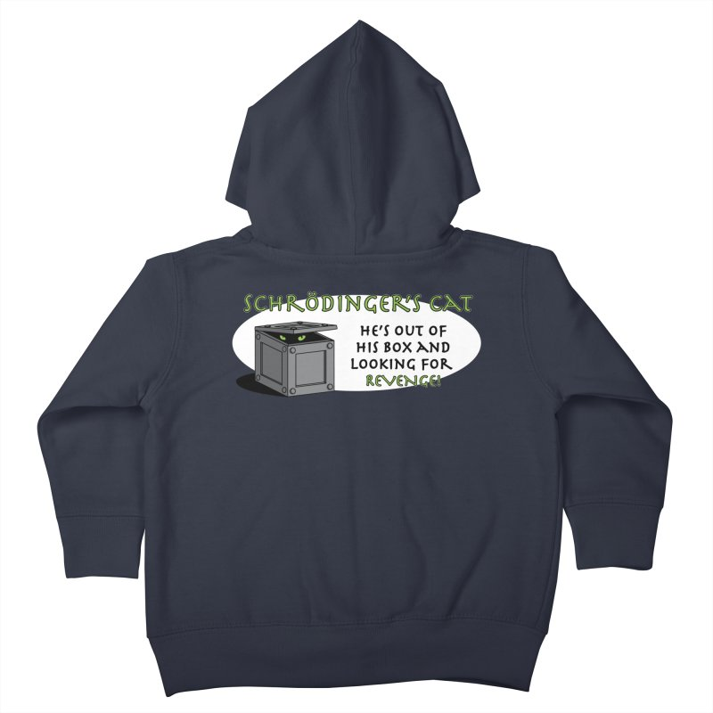 Schrodinger's Cat Kids Toddler Zip-Up Hoody by TCarver T-shirt Designs