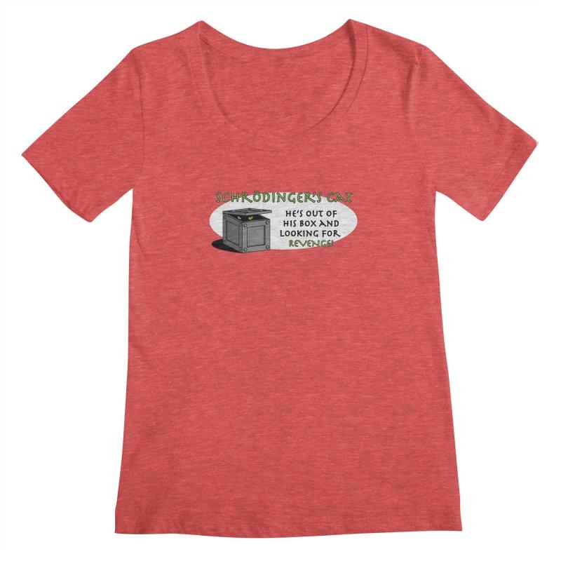 Schrodinger's Cat Women's Scoopneck by TCarver T-shirt Designs