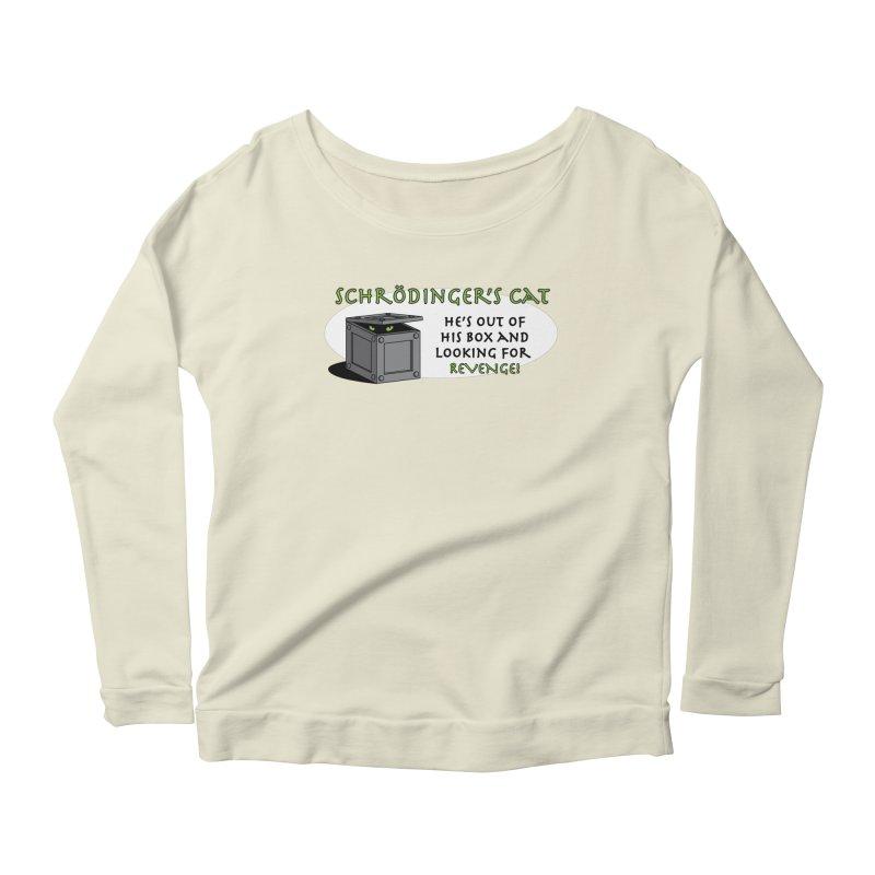 Schrodinger's Cat Women's Longsleeve Scoopneck  by TCarver T-shirt Designs
