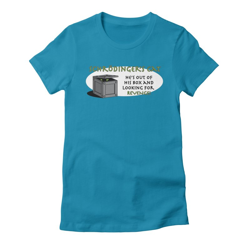 Schrodinger's Cat Women's Fitted T-Shirt by TCarver T-shirt Designs