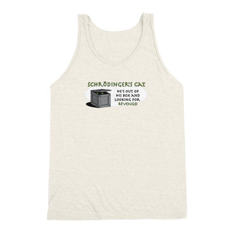Schrodinger's Cat Men's Triblend Tank by TCarver T-shirt Designs
