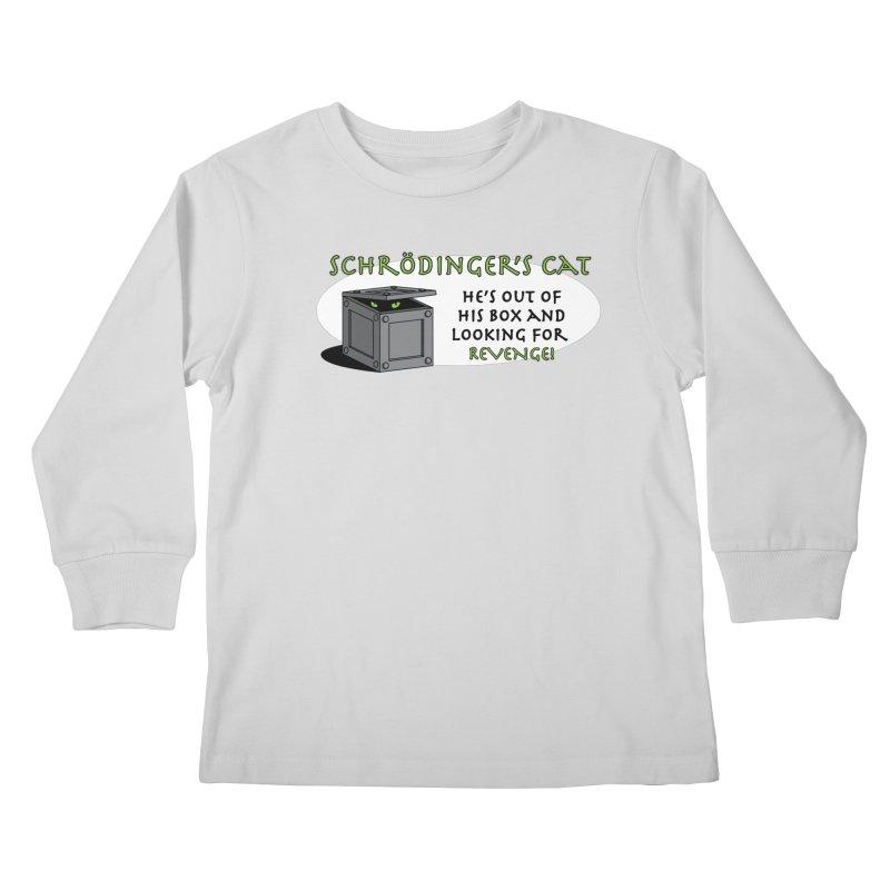 Schrodinger's Cat Kids Longsleeve T-Shirt by TCarver T-shirt Designs