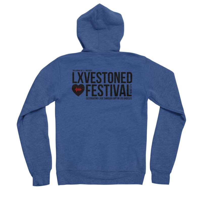 LXSTONED FESTIVAL Men's Sponge Fleece Zip-Up Hoody by TDUB951