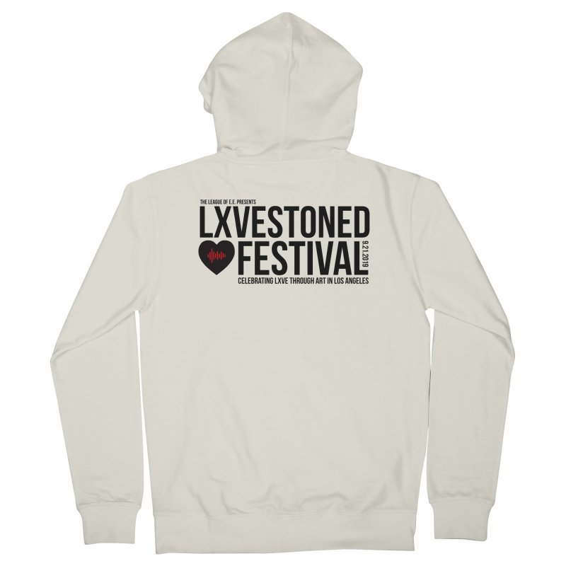 LXSTONED FESTIVAL Men's French Terry Zip-Up Hoody by TDUB951