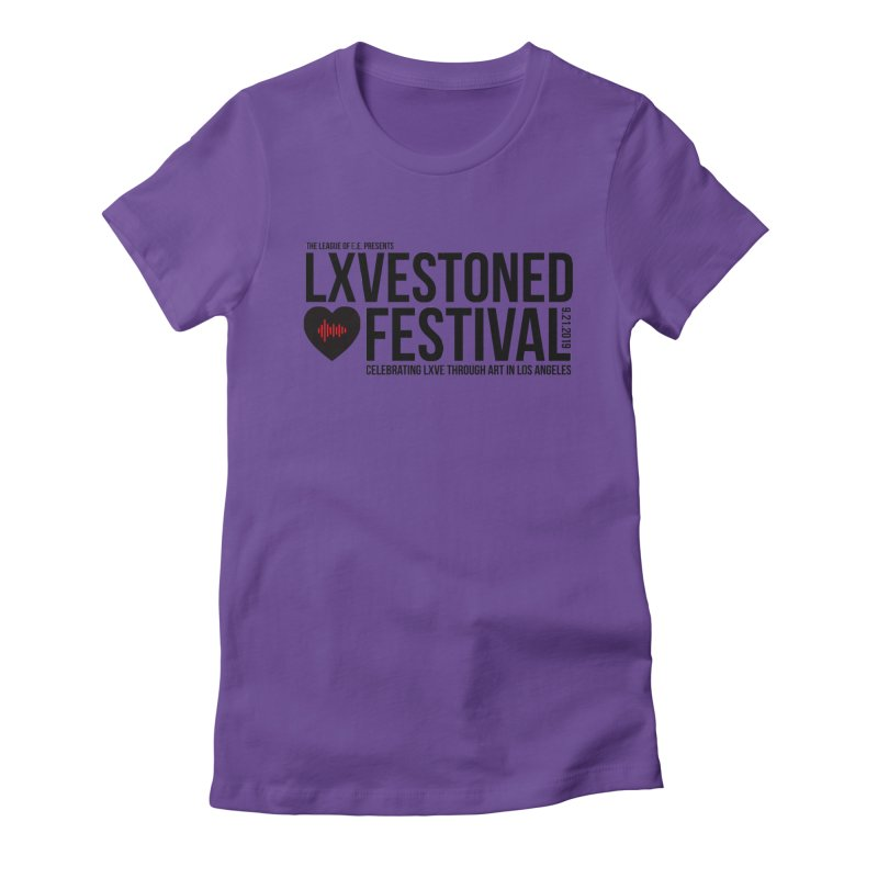 LXSTONED FESTIVAL Women's Fitted T-Shirt by TDUB951