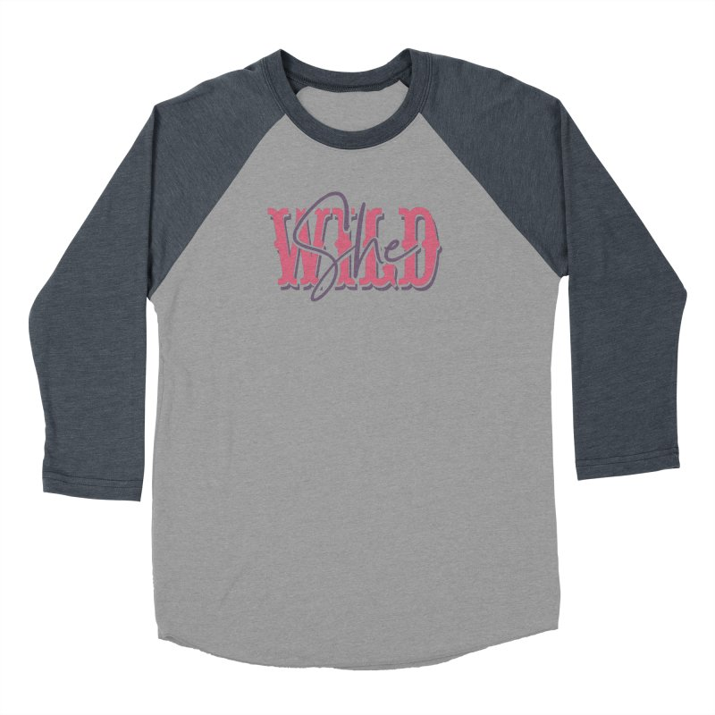 She Wild Men's Baseball Triblend Longsleeve T-Shirt by TDUB951