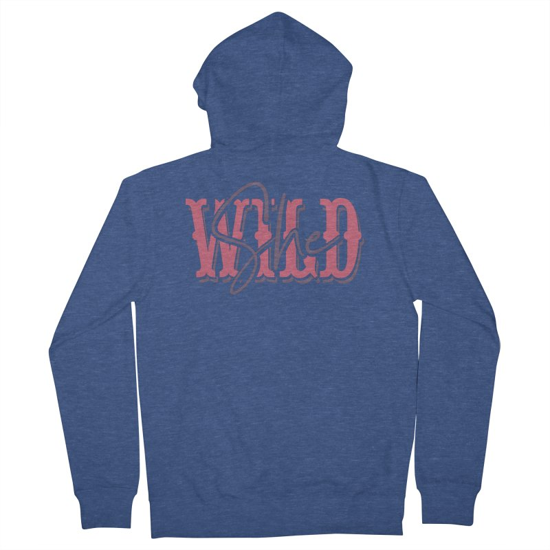 She Wild Men's French Terry Zip-Up Hoody by TDUB951