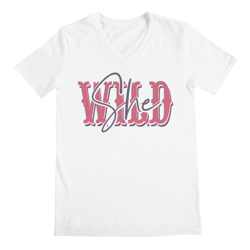 She Wild Men's V-Neck by TDUB951
