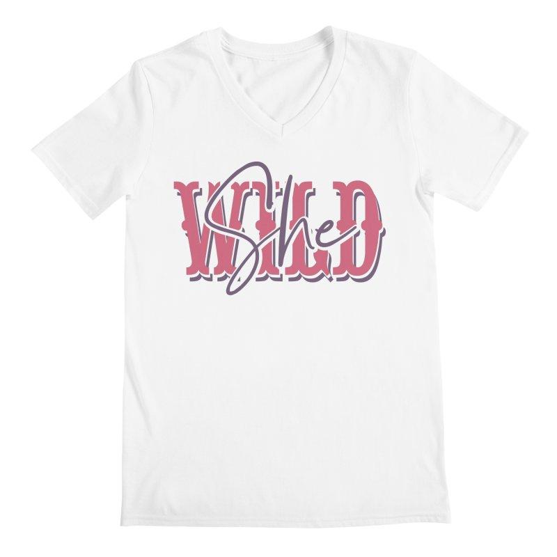 She Wild Men's Regular V-Neck by TDUB951
