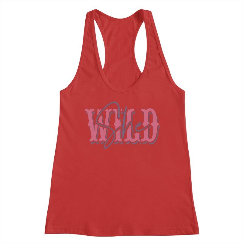 She Wild Women's Racerback Tank by TDUB951