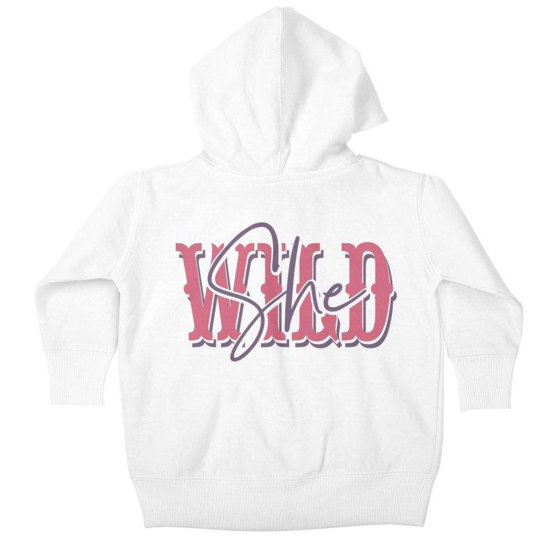 She Wild Kids Baby Zip-Up Hoody by TDUB951