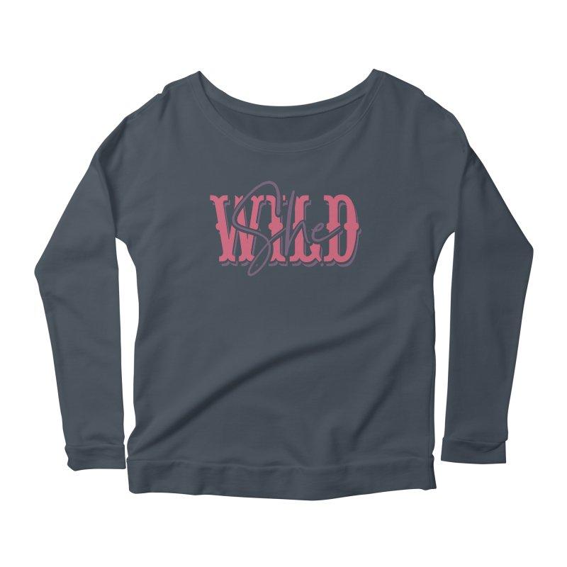 She Wild Women's Scoop Neck Longsleeve T-Shirt by TDUB951