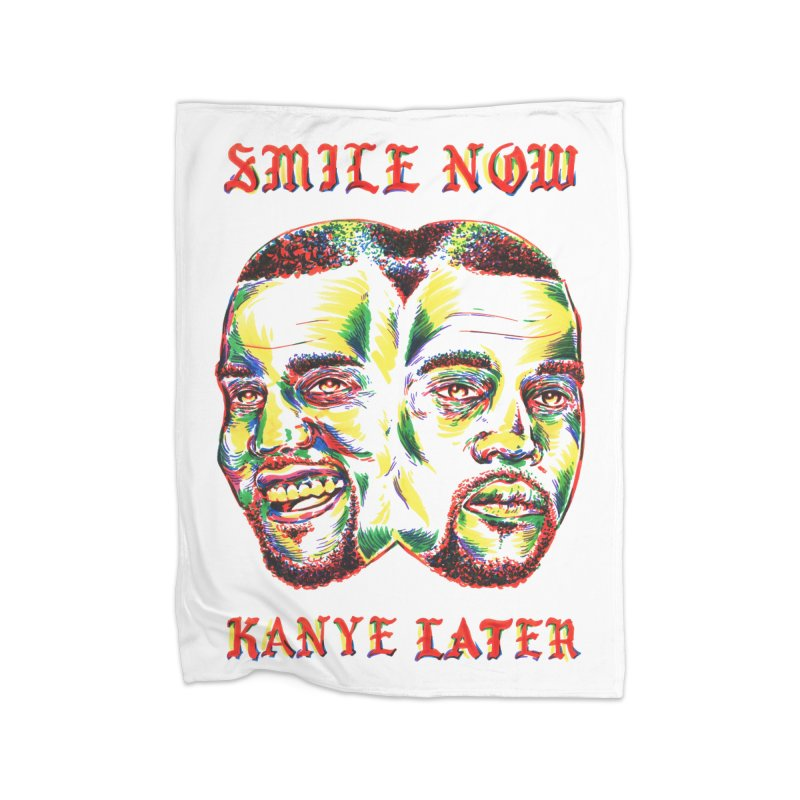 Smile Now Pablo Later Home Fleece Blanket Blanket by TDUB951