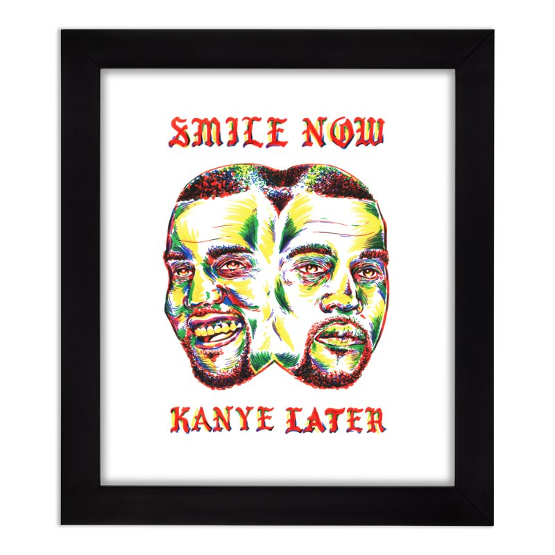 Smile Now Pablo Later Home Framed Fine Art Print by TDUB951