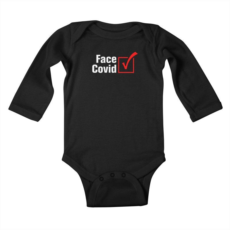 Face Covid (Check) Kids Baby Longsleeve Bodysuit by TDUB951