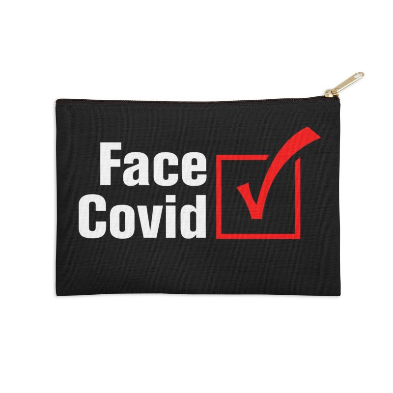 Face Covid (Check) Accessories Zip Pouch by TDUB951