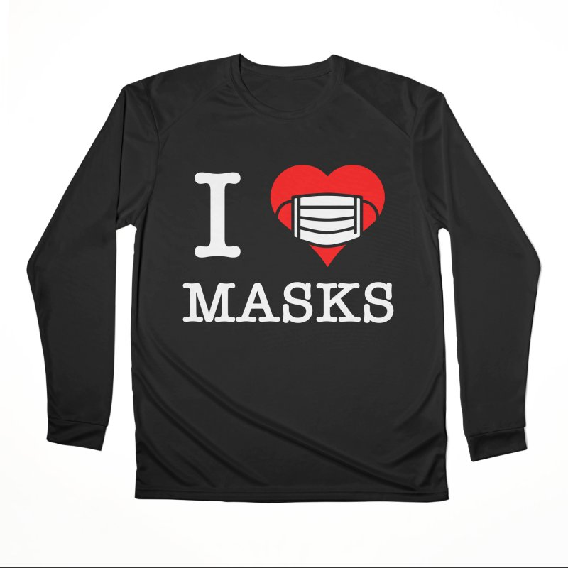 I Heart Masks Men's Longsleeve T-Shirt by TDUB951
