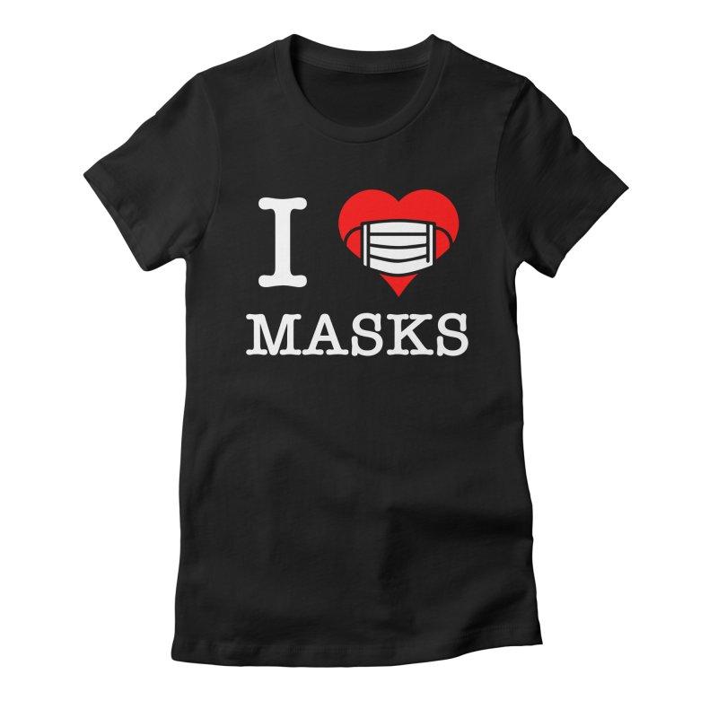 I Heart Masks Women's T-Shirt by TDUB951