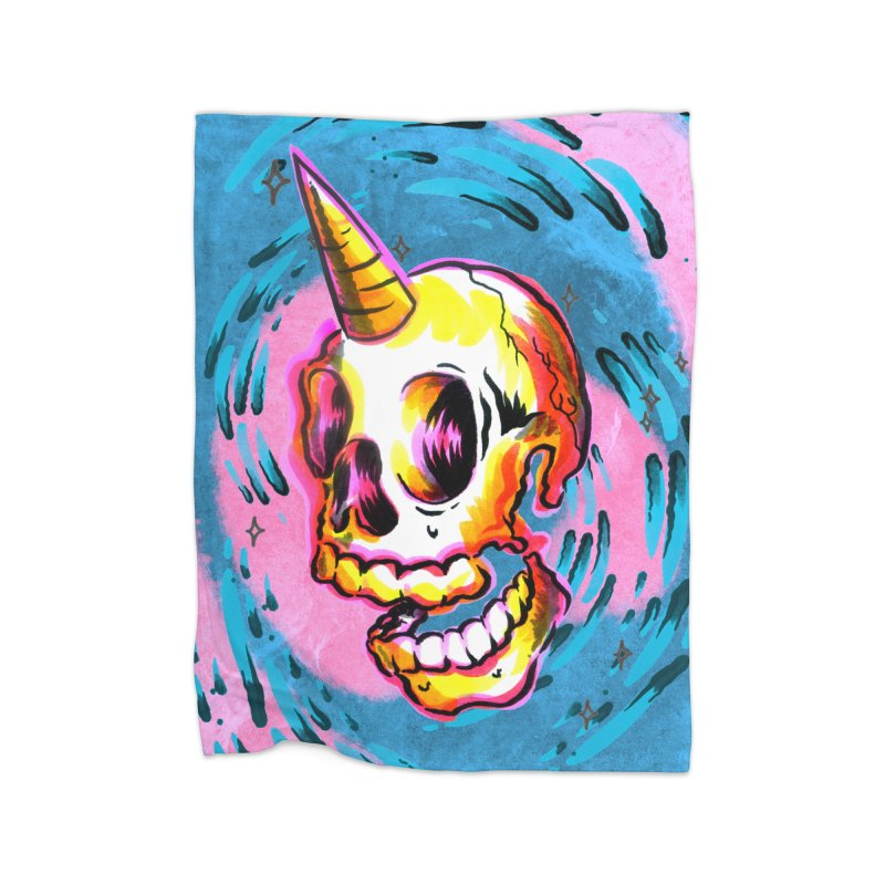 Unicorn Skull Home Blanket by TDUB951