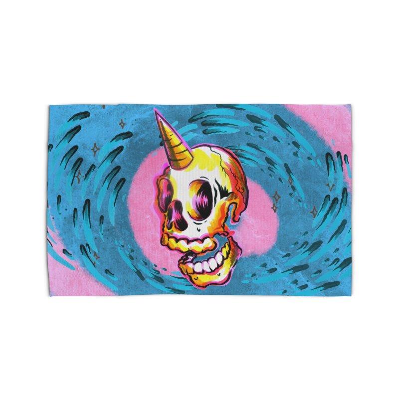 Unicorn Skull Home Rug by TDUB951