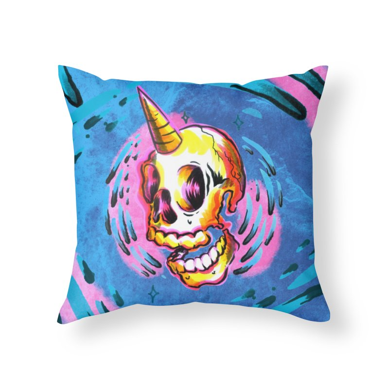 Unicorn Skull in Throw Pillow by TDUB951