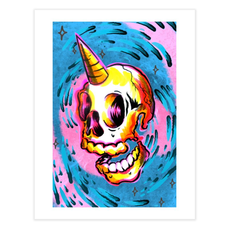 Unicorn Skull Home Fine Art Print by TDUB951